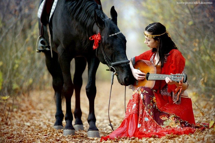 лошадь с гитарой картинка общем